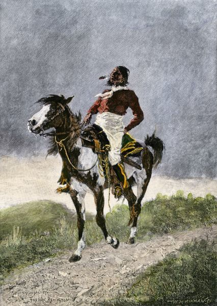 comanche on horseback 1800s