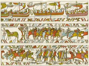 Bayeaux Tapestry portraying the Norman Conquest