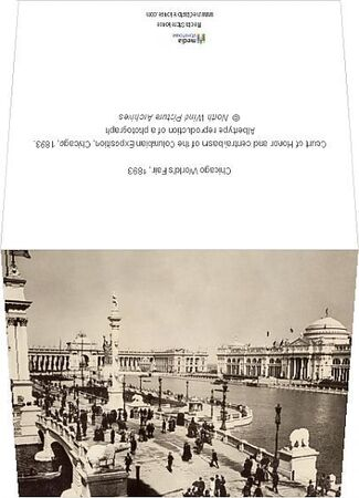 Court of Honor and central basin of the Columbian Exposition, Chicago, 1893. Albertype reproduction of a photograph