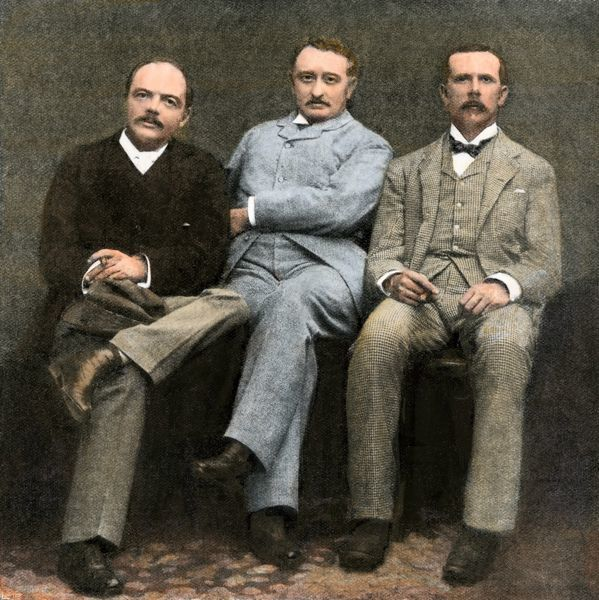 Cecil Rhodes and other British South Africa Company officials, 1896