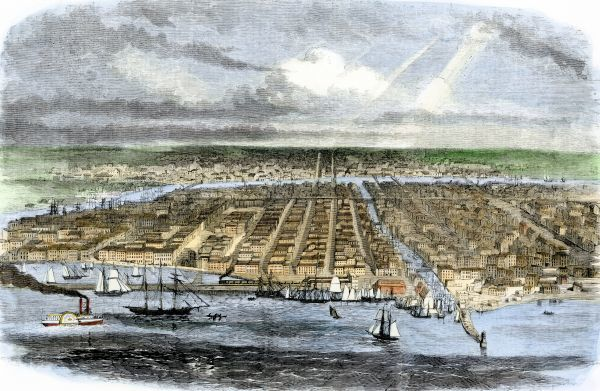 City of Chicago in 1860