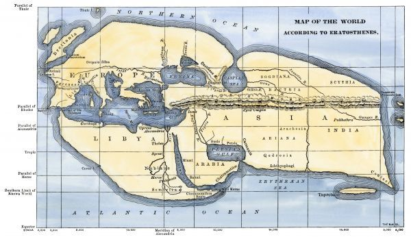 EXPL2A-00317. Map of the world according to ancient Greek geographer Eratosthenes.