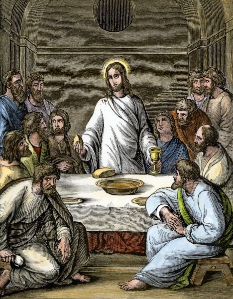 jesus at the last supper jesus breaking bread at the last supper