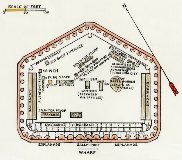 Layout Of Fort Sumter At The Outset Of The Civil War Fort Sumter