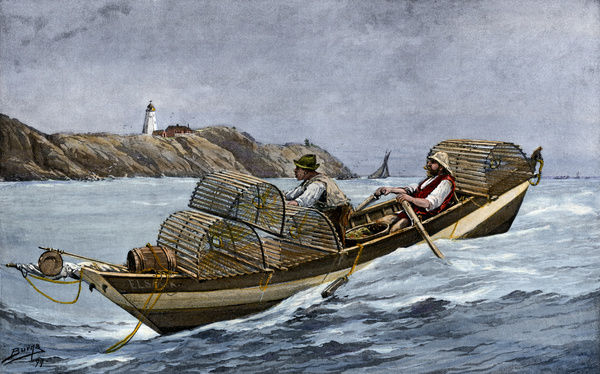 Lobster boat off the Atlantic coast of Maine and Canada