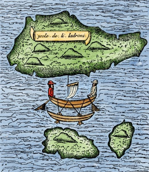 Mariana Islands in the Pacific discovered by Magellan, 1521