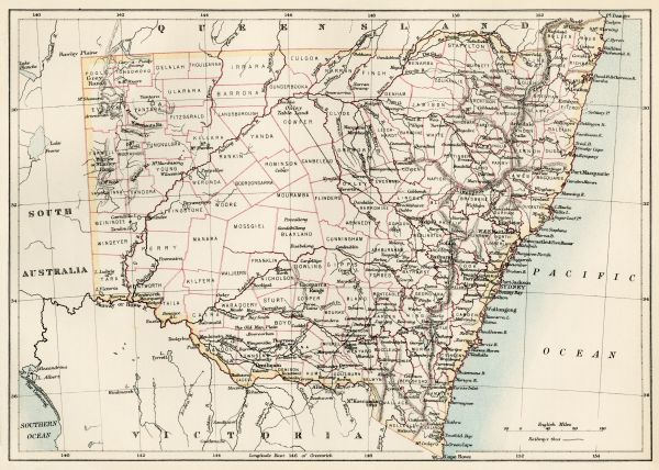 New South Wales map, 1800s