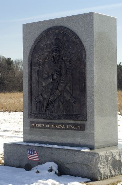 African-American Revolutionary War soldier memorial at Valley Forge, Pennsylvania. Digital photograph