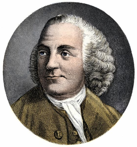PREV2A-00017. Benjamin Franklin portrait while in London, 1777.Hand-colored engraving
