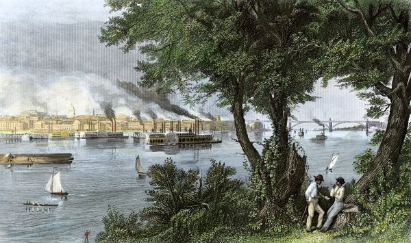 St. Louis on the Mississippi River, 1870s