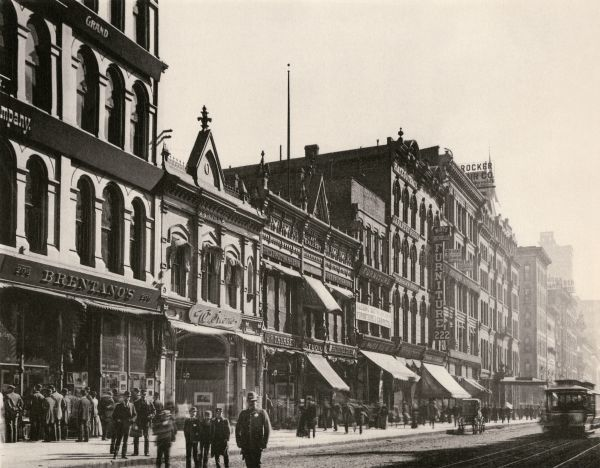 Stores on Wabash Avenue, Chicago, 1890s