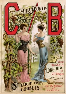 Ad for corsets, 1890s