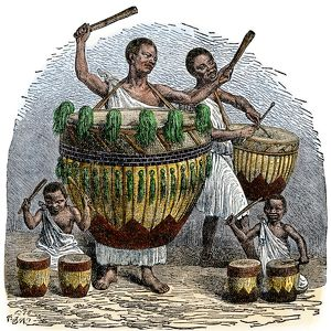 African drums, 1800s