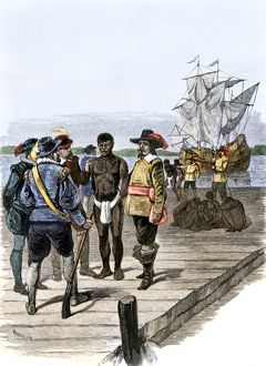 Africans brought to Jamestown as slaves, 1600s