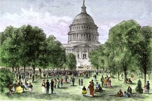 Afternoon concert on the U.S. Capitol grounds, 1870s