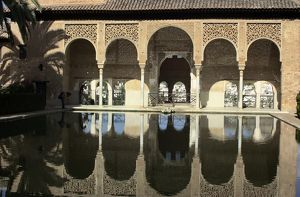 Alhambra palace and reflecting pool, Granada, Spain