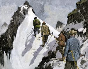 Alpine mountain-climbers, 1800s