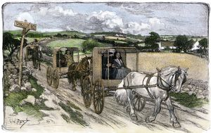 Amish carriages near Lancaster, Pennsylvania