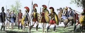 Ancient Greek soldiers