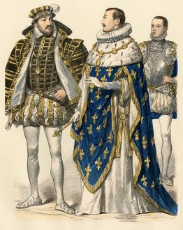 Anthony of Bourbon and kings of France Charles II, and Francis II