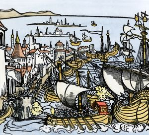 Barbary Pirates attacked in Algiers, 1541