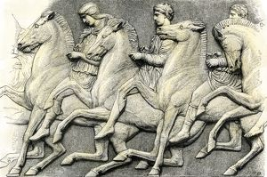Bas-relief horsemen from the Parthenon, Athens