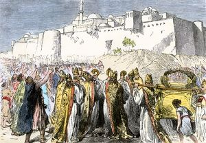Battle of Jericho in ancient Palestine