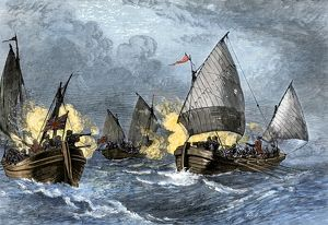 Battle of Pocomoke Sound in colonial Maryland, 1630s