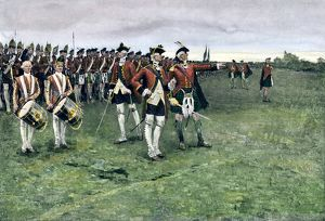 British army gathering to capture Quebec, 1759