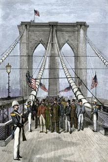 Brooklyn Bridge opened by President Chester Arthur