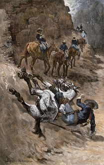 Buffalo soldiers on a rough trail
