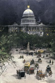 Busy night at the U.S. Capitol, 1885