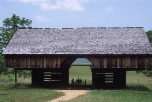 Cantilevered barn, Great Smoky Mountains