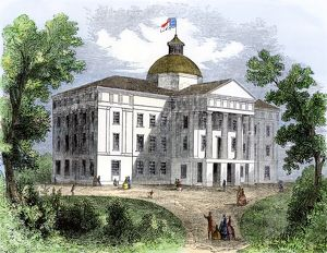 Capitol of North Carolina, 1850s