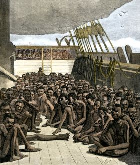 Captive Africans on a slave-ship off Key West