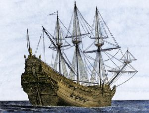 Carrack, a merchant ship of the late 1400s