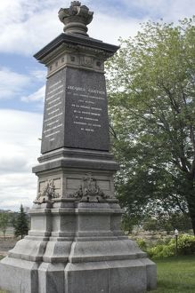 Cartier monument on the St Lawrence, Quebec