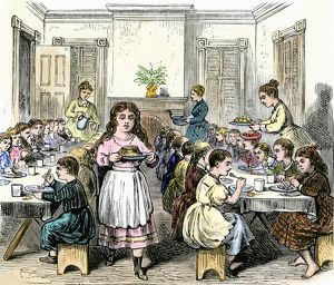 Children's Aid Society dining-hall, 1800s