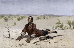 Chinese man dying of thirst in the Mohave, 1800s