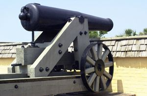 Civil War cannon at Fort Moultrie, Charleston SC