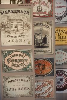 Cloth labels from American textile mills, 1800s