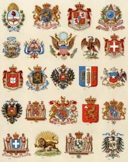 Coats of arms of some nations, 1800s