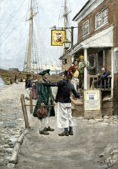 Colonial seafarers in New York, 1700s
