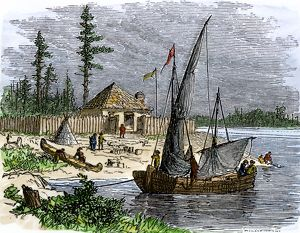 Colonial trading post on Kent Island, Maryland