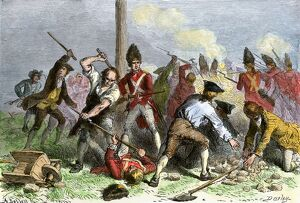 Colonials defending the Liberty Pole