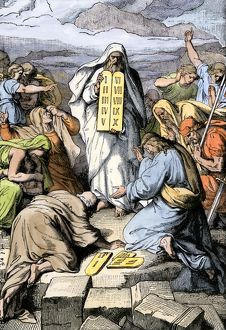 Ten Commandments delivered by Moses