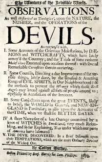 Cotton Mather's book on witchcraft, 1693