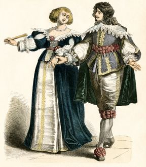 Couple in the 17th century