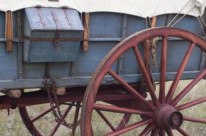 Covered wagon detail
