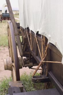 Covered wagon brake detail